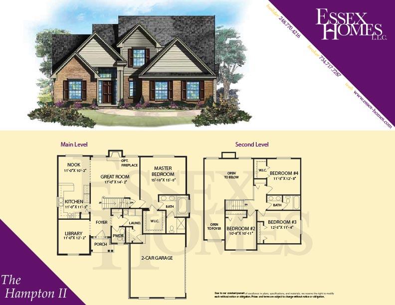 Hampton II Essex Homes Remodeling – Essex Homes Floor Plans