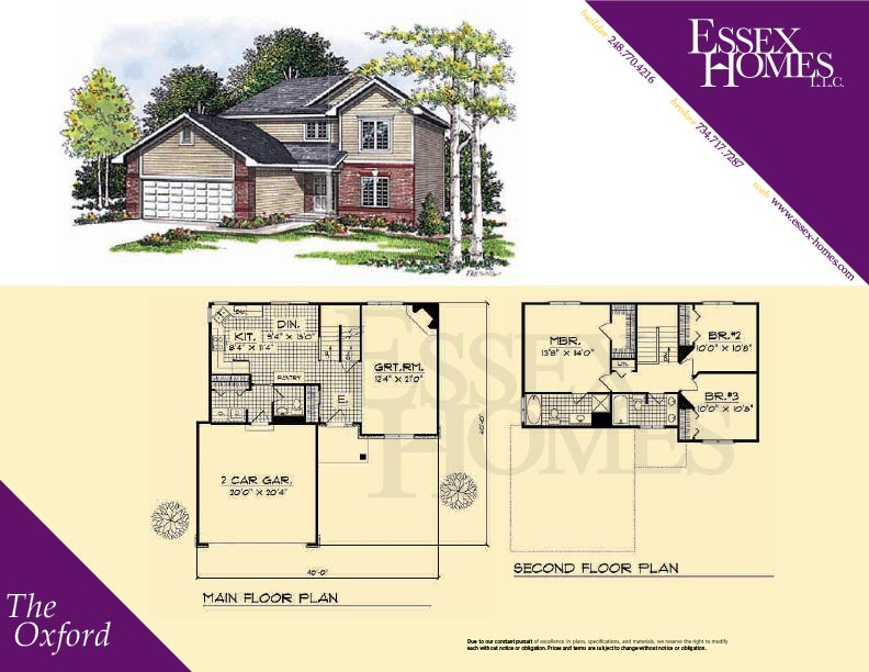 Oxford essex homes remodeling for Oxford floor plan