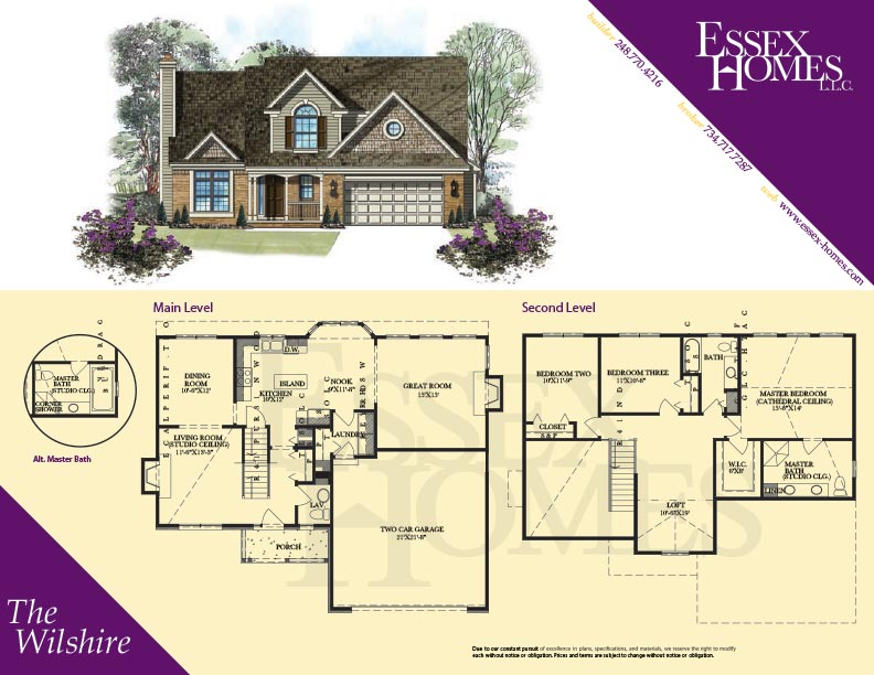 Wilshire Homes Oxford Floor Plan
